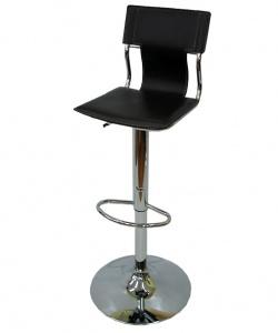 Бар стол с амортисьор в черно