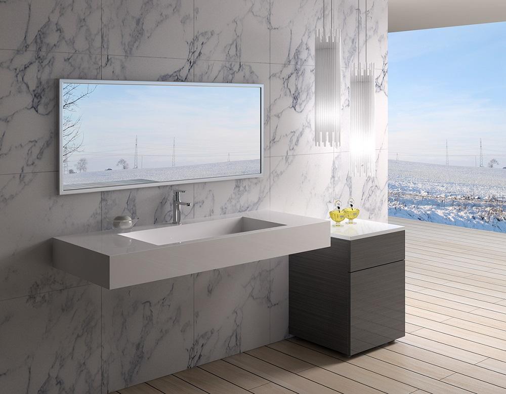 снимка на Луксозна мивка технически камък