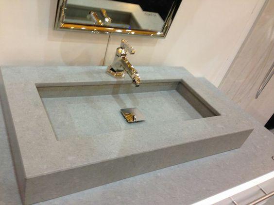 снимка на Лукс мивка технически камък