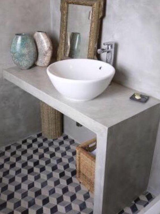 снимка на Плот за баня от технически камък бял цвят