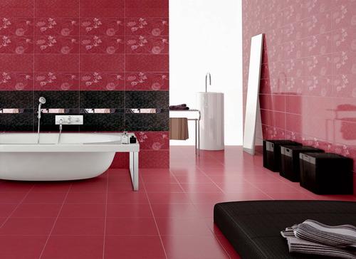плочки за баня, модел Ашанти Бордо
