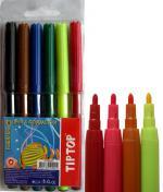 Флумастри 6 цвята Tip Top