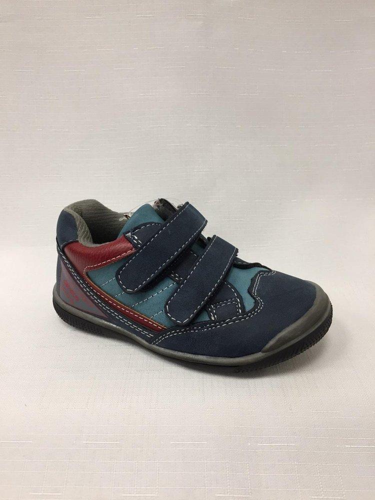 снимка на Сини бебешки маратонки с лепенки.