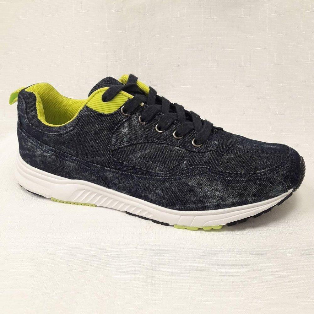 Дънкови мъжки маратонки за фитнес в синьо.