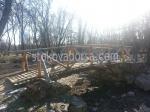 снимка на мост от дърво по поръчка