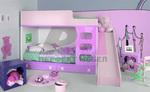 по проект интериорен дизайн на детски стаи за момичета