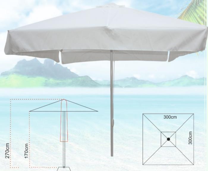 На склад бял чадър алуминиева конструкция 3/3м.