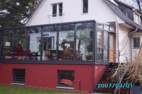 стъклена зимна градина по поръчка
