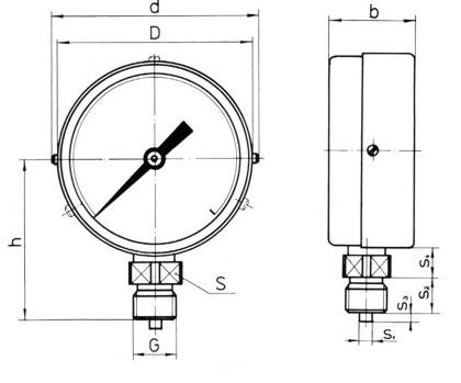 Манометри за агресивни среди с Ø 160 мм