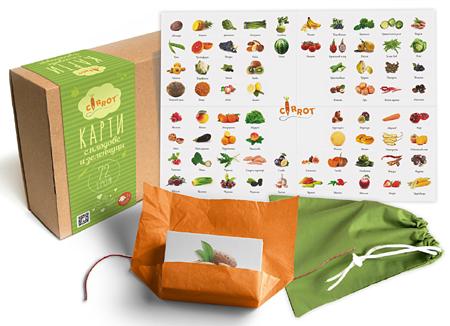 Карти с плодове и зеленчуци
