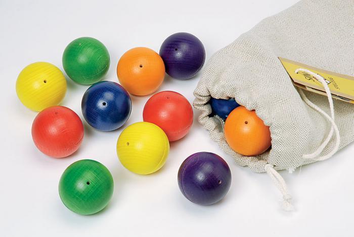 Мелодични дървени топки