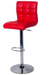 снимка на Бар стол с еко кожа и висока облегалка
