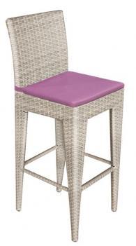 снимка на Бар стол в  светъл ратан