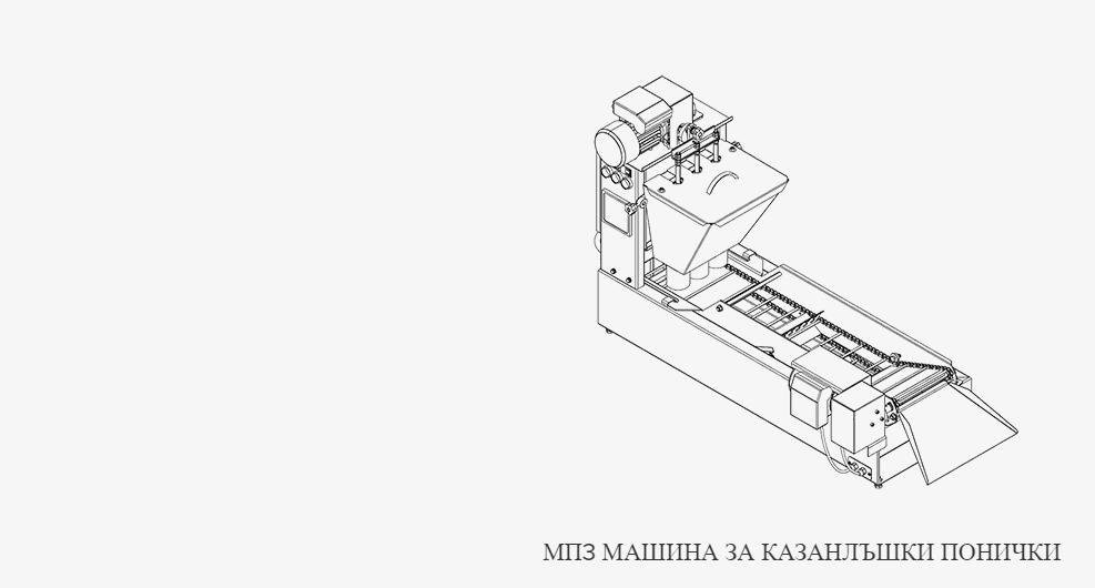 Машина за казанлъшки понички - МП3