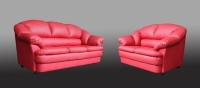 Червен фотьойл за хол