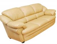 Жълт троен диван