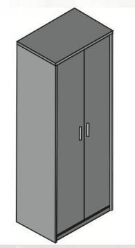 Гардероб с размери 60/40/162см