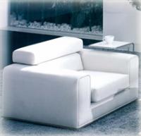 Луксозно кресло в бяло