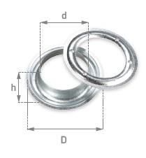 Капси за брезент 10x20x6.5 мм