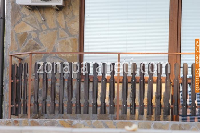 дървени парапети за тераси