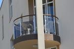 терасни парапети от инокс и кафяво стъкло