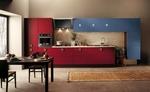 снимка на модерни кухни в два цвята