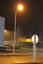 снимка на Метален стълб за улично осветление по поръчка