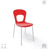 снимка на дизайнерски червен стол