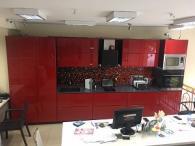 снимка на Кухня мдф гланц с технически камък