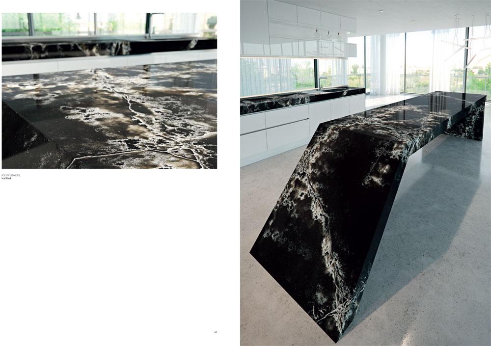 снимка на Кухня от технически камък ICE BLACK