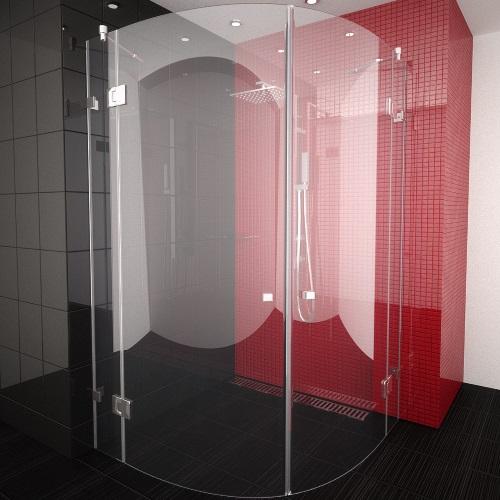 снимка на ATTRACTIVE PLUS  овална душ кабина  мм различни размери