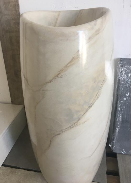 снимка на Конусна мивка от технически камък