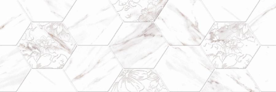 снимка на Декор плочка за баня CARRARA DECOR HEXAGONOS x