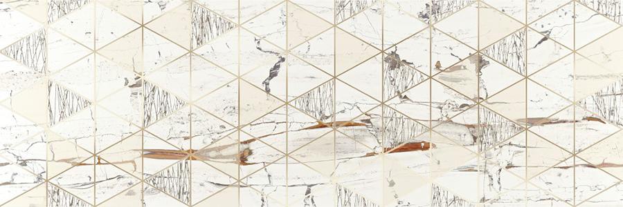 Декор плочка за баня LEONARDO LIONELA WHITE BRILLO 30x90