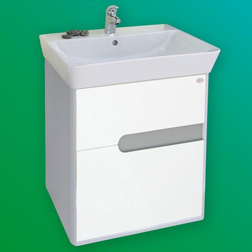 снимка на Мебел за баня – долен шкаф Бали с чекмеджета