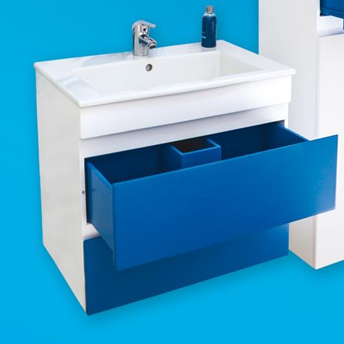 снимка на Мебел за баня – долен шкаф Линеа с чекмеджета (различни размери)