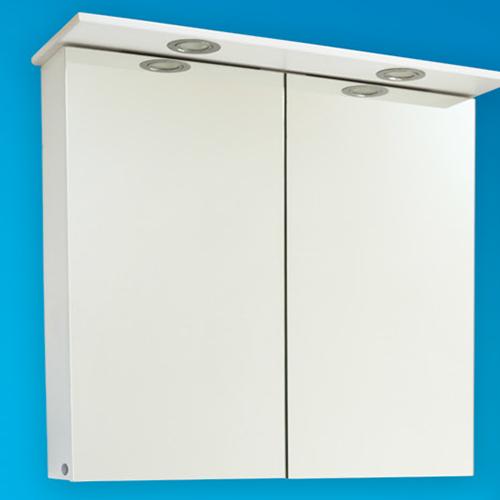 снимка на Мебел за баня – горен шкаф Линеа с осветление (различни размери)