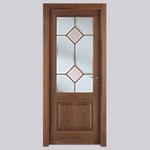 снимка на стилна Плътна интериорна врата