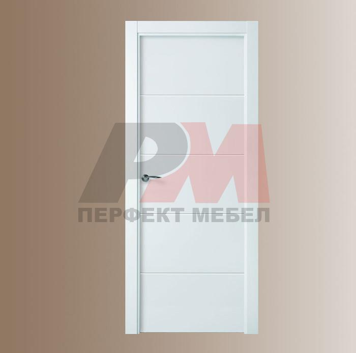 интериорна врата с пълнеж стиропор mdf