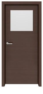 снимка на мдф интериорна врата с прави первази