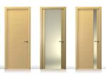 снимка на мдф интериорна врата с масивна каса