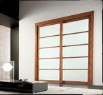 снимка на мдф портална интериорна врата с байц