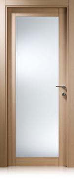 снимка на стилна интериорна врата със стъкло по размер