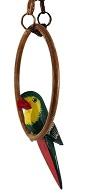 снимка на Дървен папагал на люлка  зелен