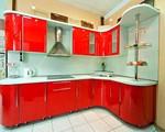 снимка на матови ъглови заоблени кухни