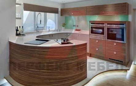 кухни извит плот с вградени мивки София