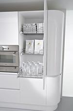снимка на обзавеждане на заоблени кухни по проект