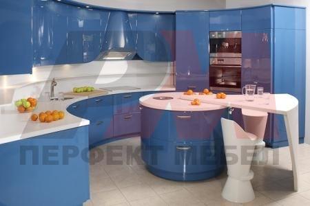 обзавеждане на овални кухни с вградени уреди