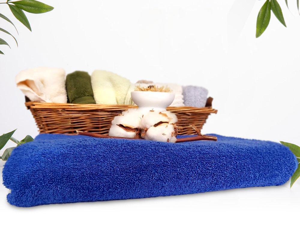 снимка на Синя хавлиена кърпа за СПА