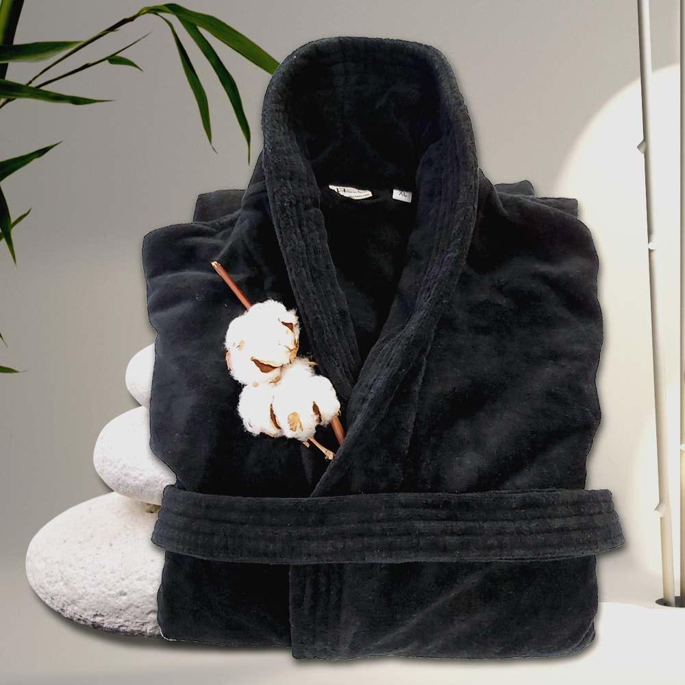 Стилен халат за баня в черно